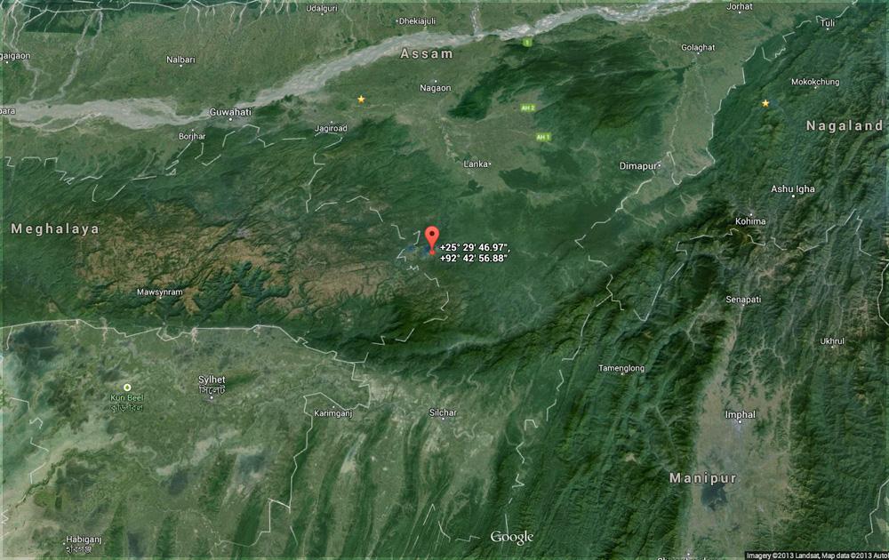 Map showing Umrangso